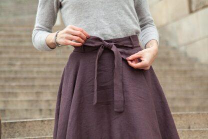 lniana spódnica z koła TALJA