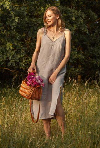 talja sukienka lniana