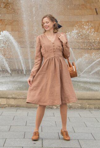 talja lniana sukienka